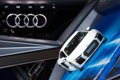 Audi R8 V10 plus bij IAA 2015 Stock Afbeeldingen