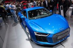 Audi R8 V10 plus bij IAA 2015 Stock Fotografie
