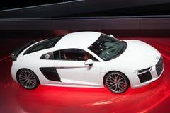 Audi R8 V10 plus bij IAA 2015 Royalty-vrije Stock Foto's