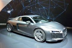 Audi R8 V10 plus bilen Royaltyfria Foton