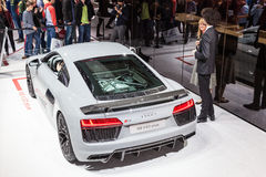 Audi R8 V10 Plus at the IAA 2015 Stock Image