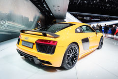 Audi R8 V10 plus, Motor Show Geneve 2015. Stock Photography