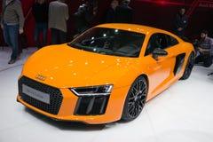 Audi R8 v10 plus sportwagen Royalty-vrije Stock Afbeeldingen