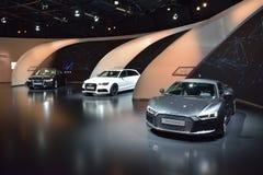 Audi R8 V10 plus, voitures de RS6 et d'A8L W12 Photos libres de droits
