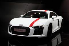 Audi R8 V10 RWS sportbil Arkivfoton