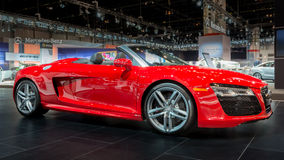 Audi 2014 R8 V10 Spyder Arkivbild