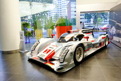 Audi R18 e-tron quattro Le Mans racing car on display Royalty Free Stock Images