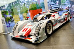 Audi R18 e-tron quattro Le Mans racing car on display Stock Images