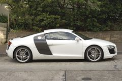 AUdi R8. Parked in Surburban Sydney Australia St Royalty Free Stock Photo