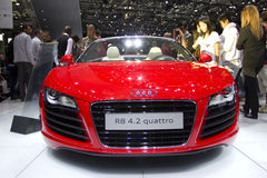 Audi R8 4.2 Quattro in Paris Motor Show 2010 Stock Image