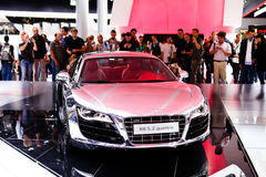 Audi R8 on 63rd IAA Stock Images