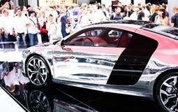Audi R8 on 63rd IAA. FRANKFURT - SEP 15: Audi R8 on 63rd IAA (Internationale Automobil Ausstellung) on September 15, 2009 in Frankfurt, Germany Stock Images