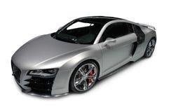 Audi R8 auf weißem Hintergrund lizenzfreie stockfotos