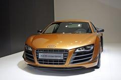 Audi R8 begrenzte Premiere im Guangzhou-Selbsterscheinen Lizenzfreie Stockbilder