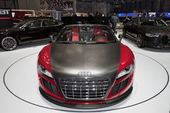 Audi R8 Cabrio ABT GTS - Geneva Motor Show 2011. Audi's official tuning company ABT created a GTS version of the Audi R8 Cabrio, with lower weight and increased Royalty Free Stock Photography