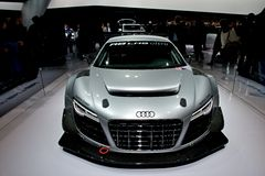 Audi R8超LMS 免版税图库摄影