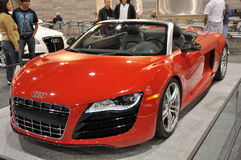 Audi R8 Spyder at Auto Show Royalty Free Stock Image