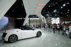 Audi R8 Spyder sur CDMS 2012 Images libres de droits