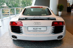 Audi R8 super car on display at Audi Centre Singapore Royalty Free Stock Photos