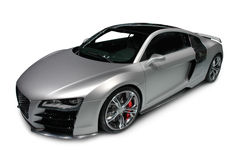 Audi R8 on white background. A photograph of an Audi R8 sports car isolated on white. Clipping path on vehicle. See my portfolio for more automotive images royalty free stock photos