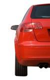 Audi rosso isolato su priorità bassa bianca Fotografia Stock Libera da Diritti