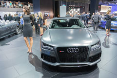 Audi RS 7 car on display at the LA Auto Show. Royalty Free Stock Photos