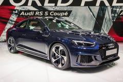 2017 Audi RS5 Coupe samochód Obrazy Stock