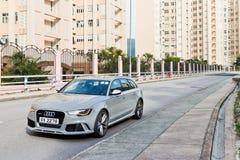 Audi RS6 Hot Sport Avant 2013 Model. In street royalty free stock photo