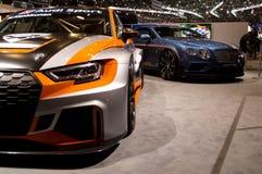 Audi RS3 LMS TCR Geneva 2017 stock images