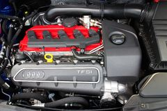Audi RS Q3 2014 Engine Royalty Free Stock Photo