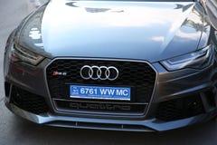 Audi RS 6 Quattro i Monaco Royaltyfri Fotografi