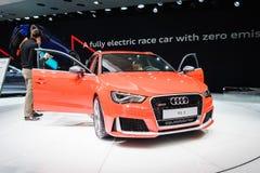 Audi RS 3 quattro, motorisk show Geneve 2015 Royaltyfria Foton