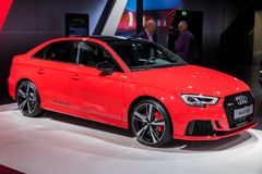 2018 Audi RS3 Sedan car Stock Photo