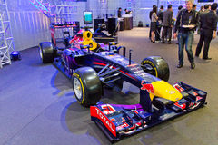 Red Bull F1 Q100 Race Car Display on May 23 2014 i Stock Images