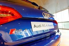 Audi RS4 Avant op vertoning op het Centrum Singapore van Audi royalty-vrije stock afbeelding
