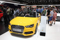 Audi S3 Cabriolet at Auto Mobile International Fair Stock Image