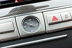 Audi S8 dashboard clock Stock Image