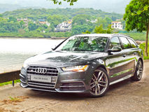 Audi S6 Facelift 2015 Test Drive Day Royalty Free Stock Photo