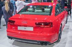 Audi S6. Frankfurt-September 20:  Audi S6 at the Frankfurt International Motor Show on September 20, 2017 in Frankfurt Stock Images