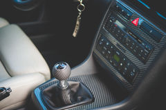 Audi S4 gear shift handle and cockpit royalty free stock image