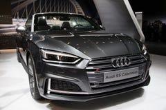 2017 Audi S5 kabrioletu samochód Obrazy Royalty Free
