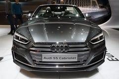 Audi S5 kabrioletu samochód Obrazy Royalty Free