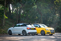 Audi S1 quattro 2014 test Drive Royalty Free Stock Images