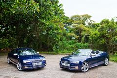 Audi S5 and S5 Cabriolet 2014 Stock Photo