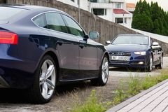 Audi S5 and S5 Cabriolet 2014 Stock Photos