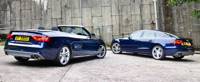 Audi S5 and S5 Cabriolet 2014 Royalty Free Stock Image