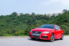 Audi S3 Sport Seden 2014 Royalty Free Stock Photos