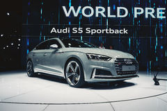 Audi 2017 S5 Sportback royaltyfria foton