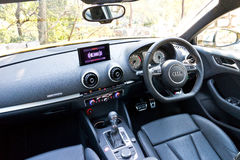 Audi S3 Sportback 2013 Model Drive Bay Royalty Free Stock Images