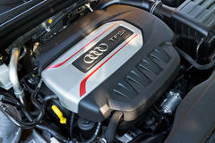 Audi S3 Sportback 2013 Model Engine Stock Photos
